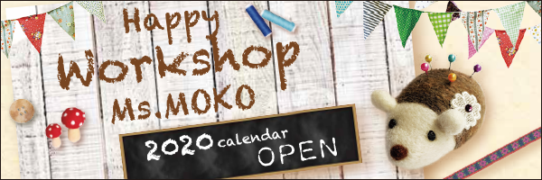 Happy Workshop Ms.MOKO 2020 calendar OPEN